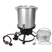 Cajun Injector 30-quart Gas Turkey Fryer with Seafood Boiler