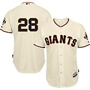 Majestic Men's Authentic San Francisco Giants Buster Posey #28 Cool Base Home Ivory On-Field Jersey