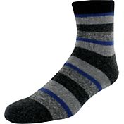 Yaktrax Men's Cozy Cabin Stripe Crew Socks
