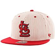 '47 Men's St. Louis Cardinals Woodside Captain Pinstripe Adjustable Hat