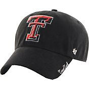 '47 Women's Texas Tech Red Raiders Black Sparkle Clean-Up Adjustable Hat