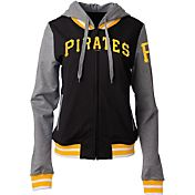5th & Ocean Women's Pittsburgh Pirates Black/Grey Full-Zip Hoodie