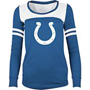 5th & Ocean Women's Indianapolis Colts Glitter Blue Long Sleeve Shirt