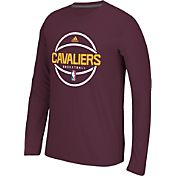 adidas Men's Cleveland Cavaliers climalite Burgundy Long Sleeve Shirt