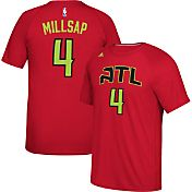 adidas Men's Atlanta Hawks Paul Millsap #4 climalite Red T-Shirt