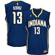 adidas Men's Indiana Pacers Paul George #13 Road Navy Replica Jersey