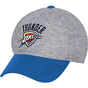 adidas Men's Oklahoma City Thunder Structured Grey Flex Hat