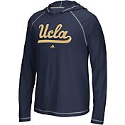 adidas Men's UCLA Bruins Navy Logo Long Sleeve Hooded Shirt