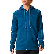 adidas Women's Team Issue Fleece 3-Stripe Full-Zip Hoodie