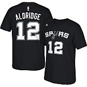 adidas Youth San Antonio Spurs LaMarcus Aldridge #12 Black T-Shirt