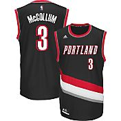 adidas Youth Portland Trail Blazers C.J. McCollum #3 Road Black Replica Jersey
