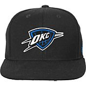 adidas Youth Oklahoma City Thunder Black Chainlink Adjustable Snapback Hat