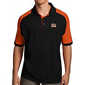 Antigua Men's Cincinnati Bengals Century Black Polo