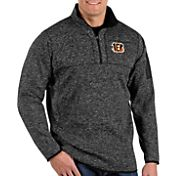 Antigua Men's Cincinnati Bengals Fortune Black Pullover Jacket