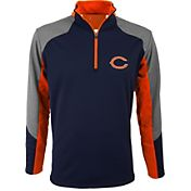 Antigua Men's Chicago Bears Mighty Navy Quarter-Zip Jacket