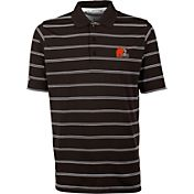 Antiqua Men's Cleveland Browns Deluxe Brown Polo