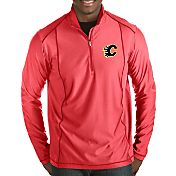 Antigua Men's Calgary Flames Tempo Half-Zip Pullover Shirt