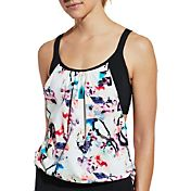 CALIA by Carrie Underwood Double Layer Tankini Top