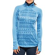 CALIA by Carrie Underwood Women's Warm Printed Quarter Zip Long Sleeve Shirt