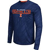 Colosseum Athletics Men's Illinois Fighting Illini Blue Sleet Long Sleeve Performance Shirt