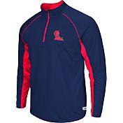 Colosseum Athletics Men's Ole Miss Rebels Blue Airstream Quarter-Zip Windshirt