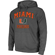 Colosseum Athletics Men's Miami Hurricanes Grey Performance Hoodie
