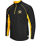 Colosseum Athletics Men's Missouri Tigers Airstream Black Quarter-Zip Windshirt