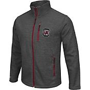 Colosseum Athletics Men's South Carolina Gamecocks Grey Backfield II Jacket