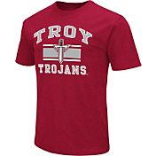 Colosseum Athletics Men's Troy Trojans Cardinal Dual Blend T-Shirt