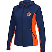 Colosseum Athletics Women's Auburn Tigers Blue/Orange Step Out Windbreaker