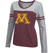 Colosseum Athletics Women's Minnesota Golden Gophers Maroon Leap Scoop Neck Long Sleeve Shirt