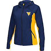 Colosseum Athletics Women's West Virginia Mountaineers Blue/Gold Step Out Windbreaker