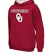 Colosseum Athletics Boys' Oklahoma Sooners Crimson Poly Fleece Hoodie