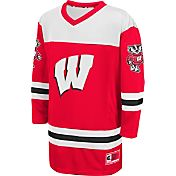 Colosseum Athletics Youth Wisconsin Badgers Red Open Net Hockey Jersey
