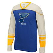 CCM Men's St. Louis Blues Applique Royal/Gold Long Sleeve T-Shirt