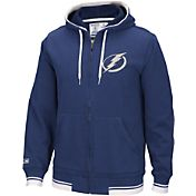 CCM Men's Tampa Bay Lightning Fashion Fleece Royal Full-Zip Hoodie