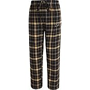 Concepts Sport Men's Purdue Boilermakers Black/Old Gold Ultimate Plaid Sleep Pants