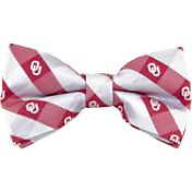Eagles Wings Oklahoma Sooners Checkered Bow Tie