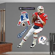 Fathead Tom Brady #12 New England Patriots Throwback Real Big Wall Graphic