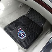 FANMATS Tennessee Titans 2-Piece Heavy Duty Vinyl Car Mat Set