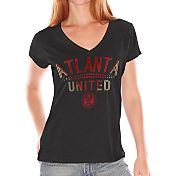 G-III for Her Women's Atlanta United First Fair Catch V-Neck T-Shirt
