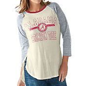 G-III For Her Women's Alabama Crimson Tide White/Grey Hang Time Three-Quarter Shirt