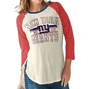 G-III for Her Women's New York Giants Tri-Blend Hangtime Raglan White T-Shirt