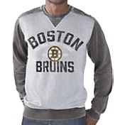 G-III Men's Boston Bruins Zone Blitz Grey Burnout Fleece Sweatshirt