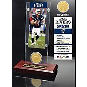 The Highland Mint San Diego Chargers Phillip Rivers Ticket and Bronze Coin Desktop Display