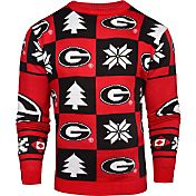 Klew Men's Georgia Bulldogs Red Ugly Sweater