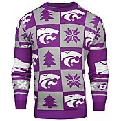Klew Men's Kansas State Wildcats Purple Ugly Sweater
