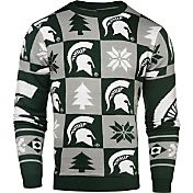 Klew Men's Michigan State Spartans Green Ugly Sweater