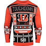 KLEW Men's Cincinnati Bengals Light Up Ugly Sweater