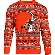 KLEW Men's Cleveland Browns Aztech Ugly Sweater
